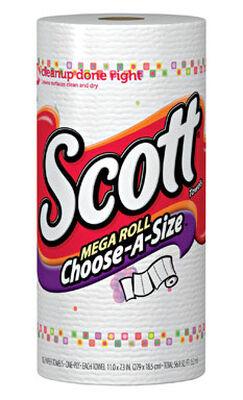 Scott Choose-A-Sheet Paper Towel Rolls 102 sheet 1 Ply