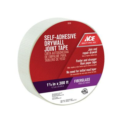 Ace Drywall Joint Tape Fiberglass Mesh Self Adhesive 1-7/8 in. W x 300 ft. L