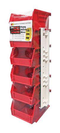 Quantum Storage Tool Storage Bin 2-13/16 in. H x 4-1/8 in. W x 5-3/8 in. L Red