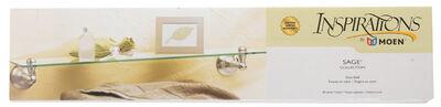 Moen Inspirations 3.1 in. H Nickel Brushed Glass Shelf Zinc