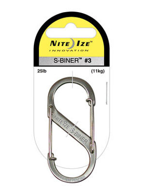Nite Ize S-Biner Stainless Steel Stainless Steel Carabiner 2-3/8 in. L Silver 25 lb. Key Holde