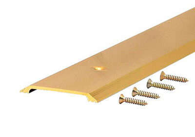 M-D Building Products Flat Top Threshold 2-1/2 in. W x 36 in. L Bright Gold