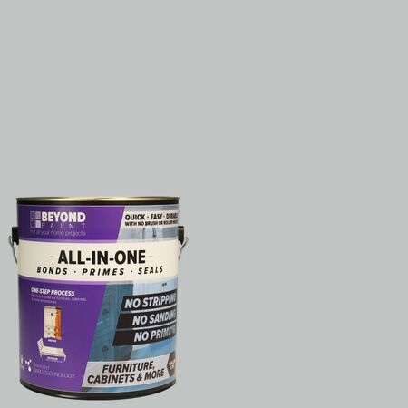BEYOND PAINT Matte Soft Gray Water-Based Acrylic All-In-One Paint 1 gal.