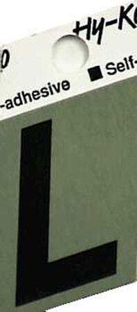 Hy-Ko Self-Adhesive Black 1-1/2 in. Aluminum Letter L