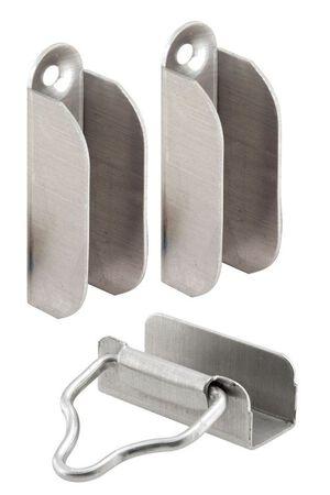 Prime-Line Double Hung Window Screen Frame Corner 7/16 in. W x 1-1/2 in. L Mill Aluminum 2 pk