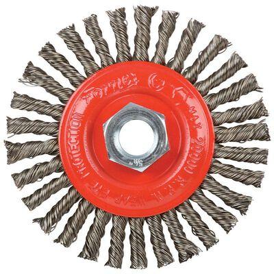 Forney 4 in. Dia. Stringer 5/8 in. -11 in. Wire Wheel Brush 20000 rpm