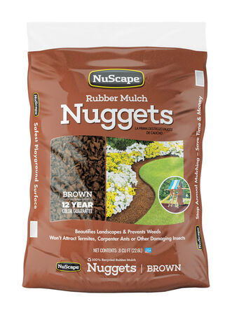 Rubber Mulch Nuggets Earth-tone 0.8 cu. ft.