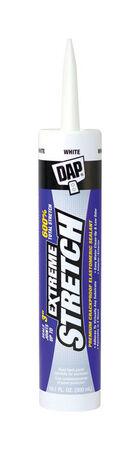 DAP Extreme Stretch White Acrylic Urethane Door, Trim and Window Sealant 10.1 oz.