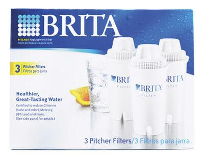 Brita 300 (16.9 oz.) Bottles per Filter Replacement Water Filter White