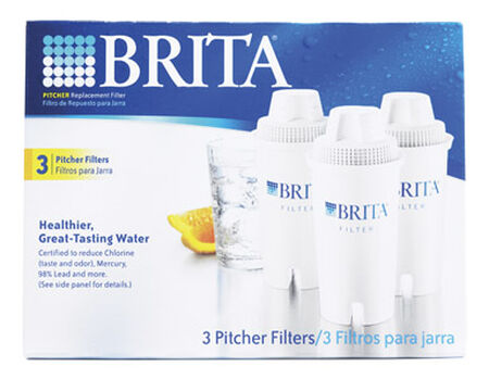 Brita 300 (16.9 oz.) Bottles per Filter Replacement Water Filter White