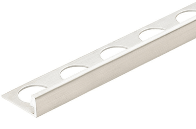 Silver 3/8 in. X 98.5 in. Aluminum L-Shaped Tile Edging Trim