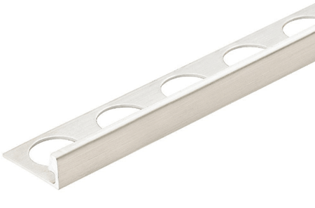 Silver 3/8 in. X 98.5 in. Aluminum L-Shaped Tile Edging Trim