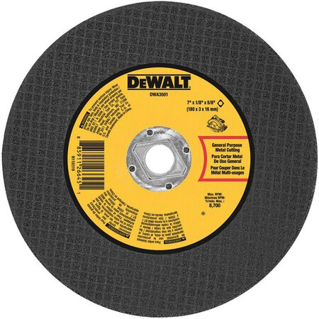 DeWalt High Performance Metal Cutting Saw Blade 7 in. Dia. x 1/8 in. thick x 5/8 in. in.