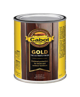 Cabot Gold Outdoor Moonlit Mahogany Transparent Deck Varnish 1 qt. Satin