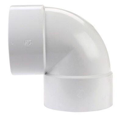 Plastic Trends SDR35 6 in. Hub x 6 in. Dia. Hub PVC Elbow