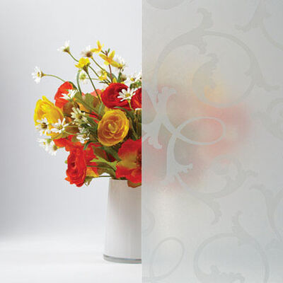 Gila Frosted Botanical Window Film 36 in. W x 78 in. L