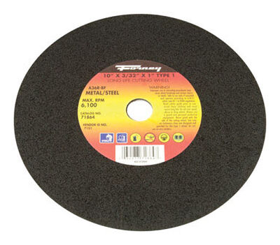 Forney 10 in. Dia. x 3/32 in. thick x 1 in. Metal Cutting Wheel