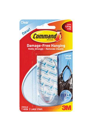 3M Command Large Hook 3-3/8 in. L Plastic 4 lb. 1 pk