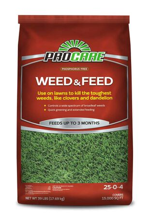 Pro Care Weed and Feed 39 lb 15M (Red)