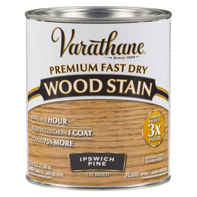 Varathane Premium Fast Dry Semi-Transparent Oil-Based Wood Stain Ipswich Pine 1 qt.