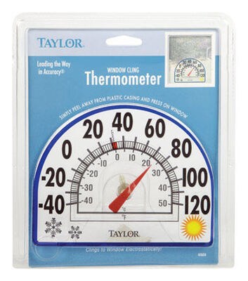 Taylor Window Cling 7 in. Outdoor Clear Dial Thermometer