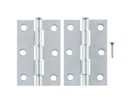 Ace Steel Narrow Hinge 3 in. L Zinc 2 pk