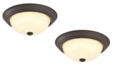Travis 2-Pack LED Ceiling Lights, Oil Rubbed Bronze #579185