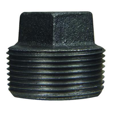 B & K 1/2 in. Dia. MPT Black Malleable Iron Plug