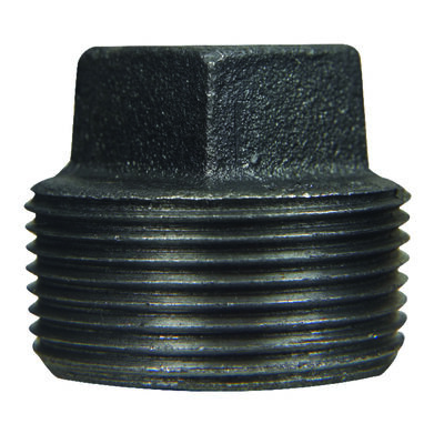 B & K 3/4 in. Dia. MPT Black Malleable Iron Plug