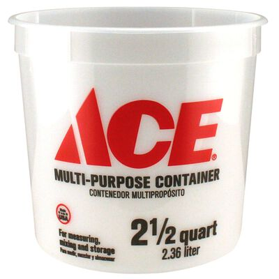 Ace Plastic Bucket 2.5 qt. Clear