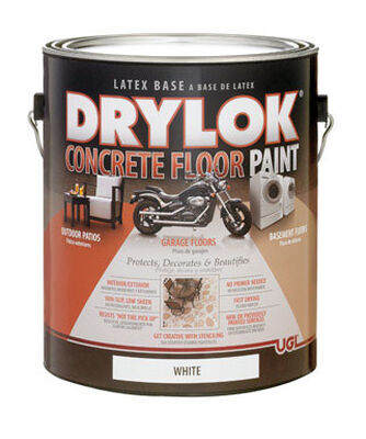 Drylok Floor Paint Low Sheen White 1 gal.