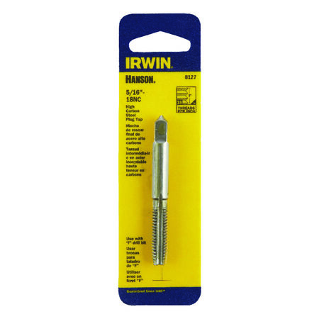 Irwin Hanson High Carbon Steel 5/16 in.-18NC SAE Fraction Tap 1 pc.