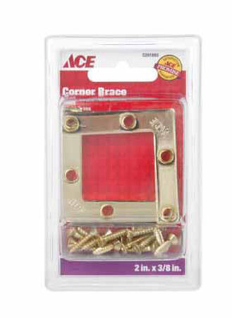 Ace Flat Corner Brace 2 in. x 3/8 in. Brass