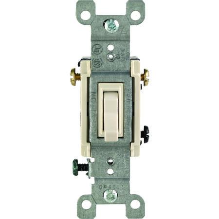 Leviton 15 amps Toggle 3-Way Switch Single Pole