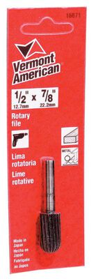 Vermont American 7/8 in. L x 1/2 in. Dia. Cylindrical with Round End Rough Cylindrical Rotary Fi