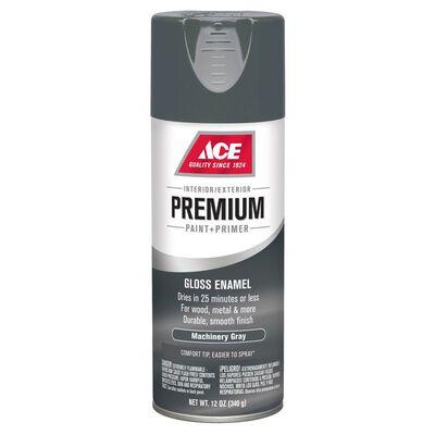 Ace Premium Machinery Gray Gloss Enamel Spray Paint 12 oz.