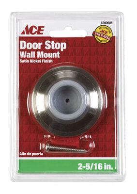 Ace Metal Wall Door Stop 2-1/4 in. L Satin Nickel Gray