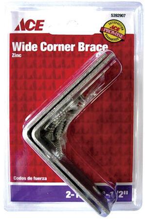 Ace Inside Wide Corner Brace 2-1/2 in. x 1-1/2 in. Zinc