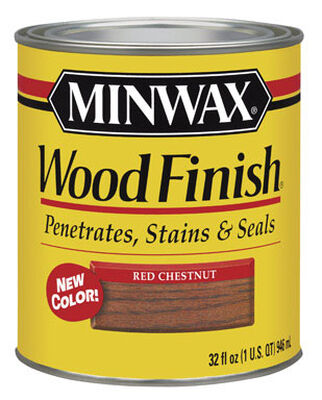 Minwax Wood Finish Transparent Oil-Based Wood Stain Red Chestnut 1 qt.
