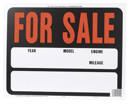 Hy-Ko English 15 in. H x 19 in. W Plastic Sign Auto for Sale