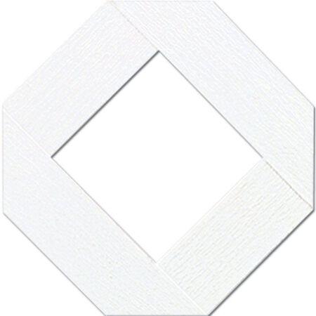 Master Mark Traditional Lattice Panel 4 ft. x 8 ft. Plastic White