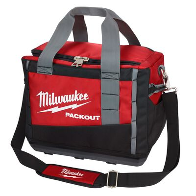 Milwaukee PACKOUT 15 in. W x 12.2 in. H Ballistic Nylon Tool Bag 3 pocket Black/Red 1 pc.
