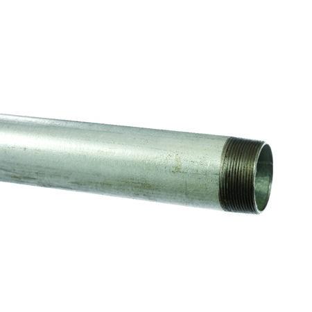 Seminole 1-1/2 in. Dia. x 10 ft. L Gray Galvanized Steel Pipe