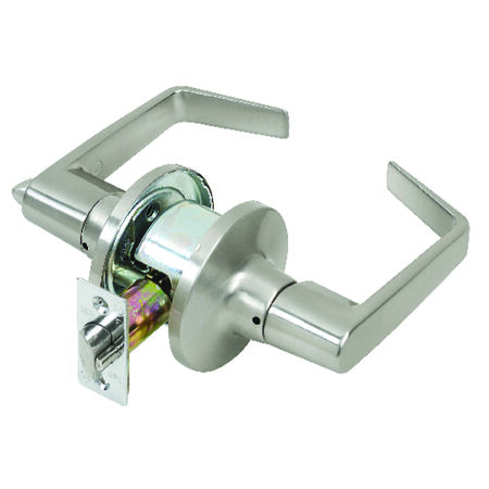Tell Satin Chrome 2 in. Privacy Lockset 2 Grade Left Handed Right Handed