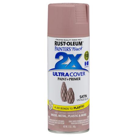 Rust-Oleum Painter's Touch 2X Ultra Cover Satin Vintage Blush Spray Paint 12 oz.