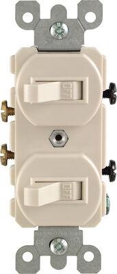 Leviton 15 amps Toggle Dual Combination Switch Single Pole 1 pk