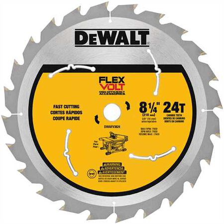 "8-1/4"" 24T TABLE SAW BLADE"