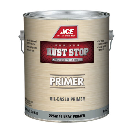 Ace Rust Stop Grey Flat Alkyd Resin Oil Primer 1 gal.