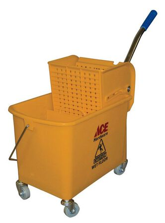 Ace 21 qt. Wheeled Wringer Bucket Yellow