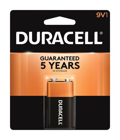 Duracell Coppertop 9V Alkaline Batteries 9 volts 1 pk